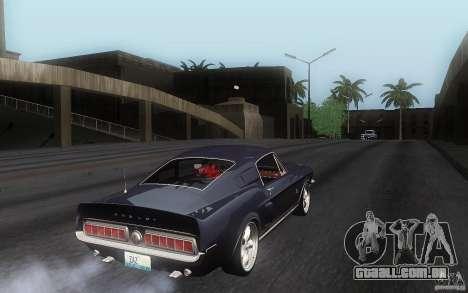 Shelby GT500KR para GTA San Andreas vista direita