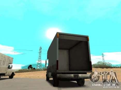 New Mule para GTA San Andreas traseira esquerda vista