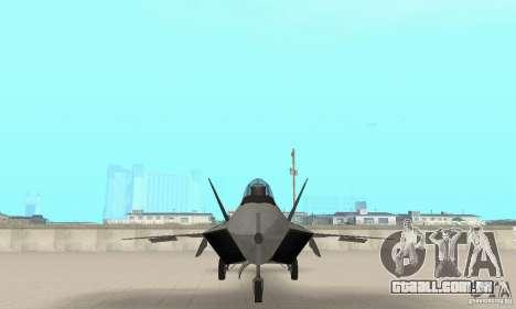 Y-f22 Lightning para GTA San Andreas vista interior