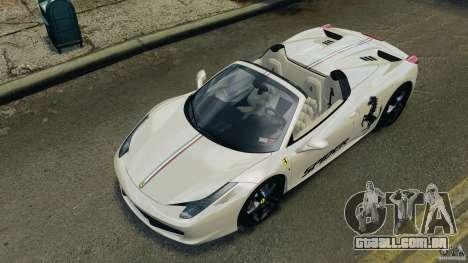 Ferrari 458 Spider 2013 v1.01 para GTA 4 interior