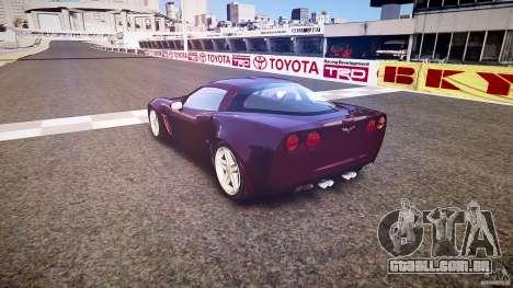 Chevrolet Corvette C6 Z06 para GTA 4 vista lateral