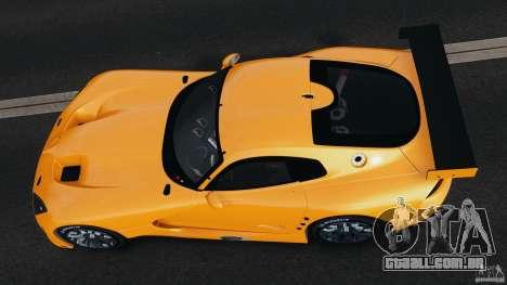 SRT Viper GTS-R 2012 v1.0 para GTA 4 vista de volta