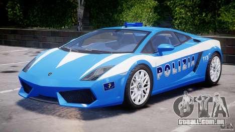 Lamborghini Gallardo LP560-4 Polizia para GTA 4 esquerda vista