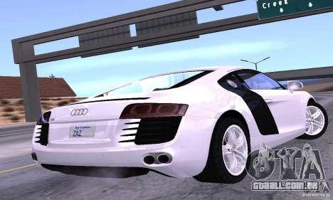 Audi R8 4.2 FSI para GTA San Andreas esquerda vista