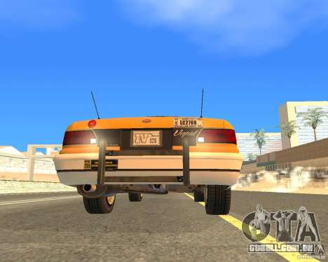 Taxi from GTAIV para GTA San Andreas vista traseira