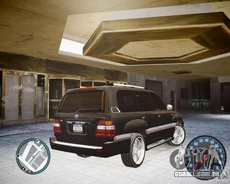 Toyota Land Cruiser 100 para GTA 4 esquerda vista