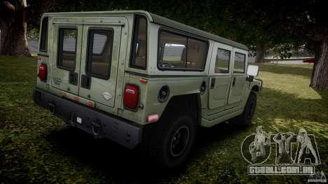 Hummer H1 Original para GTA 4 vista superior