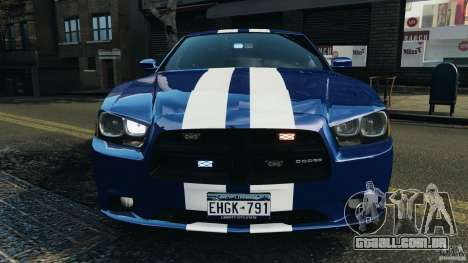 Dodge Charger Unmarked Police 2012 [ELS] para GTA 4 interior