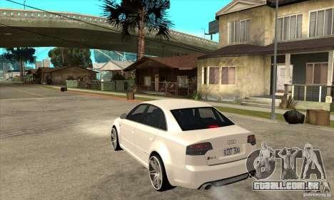 Audi RS4 2006 v2 para GTA San Andreas traseira esquerda vista