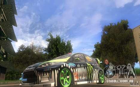 Ford Fiesta Gymkhana para GTA San Andreas esquerda vista