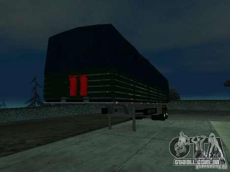 Trailer inglês de Kamaz para GTA San Andreas esquerda vista