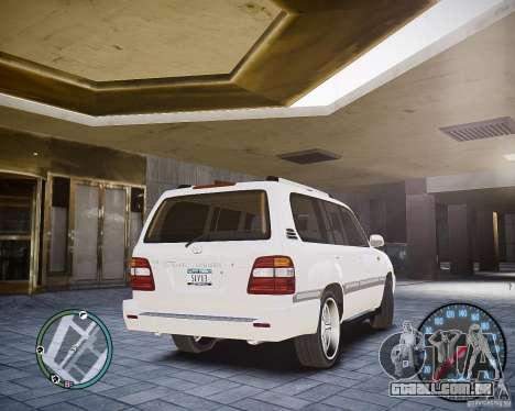 Toyota Land Cruiser 100 para GTA 4 traseira esquerda vista