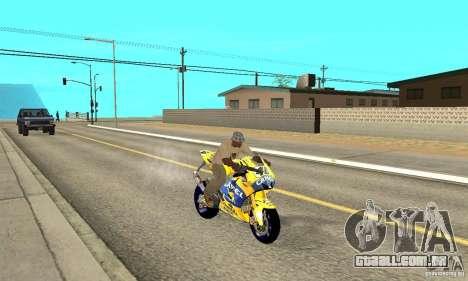 Honda Valentino Rossi Bf400 para GTA San Andreas vista direita