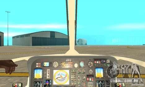 AS-365N da Guarda Costeira dos Estados Unidos para GTA San Andreas vista traseira
