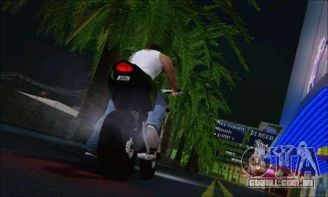 Honda CB600F Hornet 2012 para GTA San Andreas traseira esquerda vista