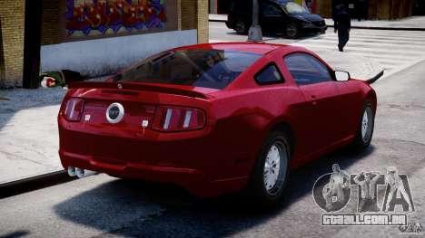 Ford Shelby GT500 2010 para GTA 4 traseira esquerda vista