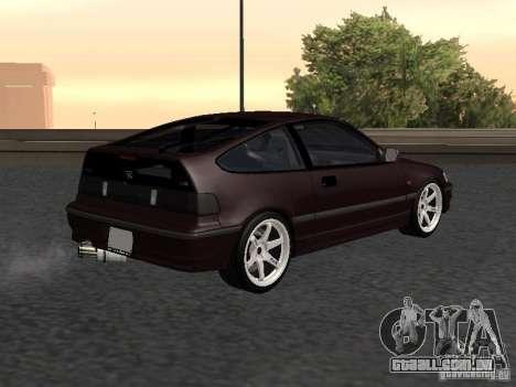 Honda Civic CRX JDM para GTA San Andreas traseira esquerda vista