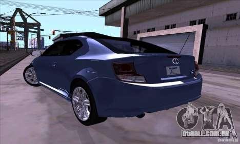 Scion Tc 2012 para GTA San Andreas vista direita