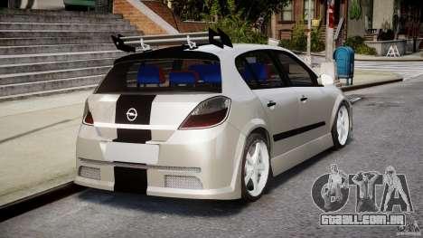 Opel Astra 1.9 TDI 2007 para GTA 4 vista superior