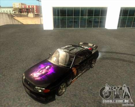 Nissan Skyline R32 GTS-T type-M para GTA San Andreas vista traseira