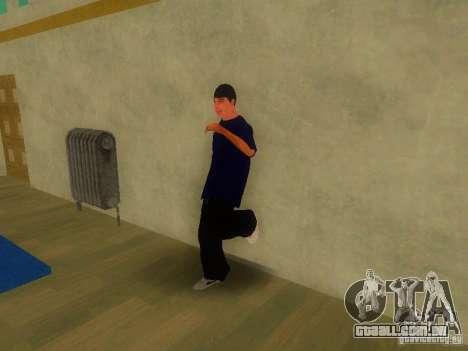 Tricking Gym para GTA San Andreas por diante tela