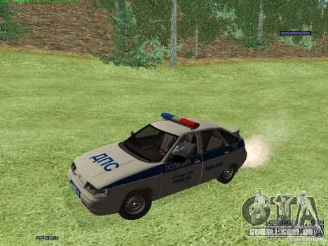 LADA 2112 DPS polícia para GTA San Andreas esquerda vista