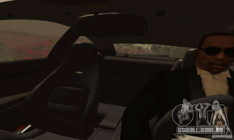 Mercedes-Benz C63 AMG para GTA San Andreas vista interior