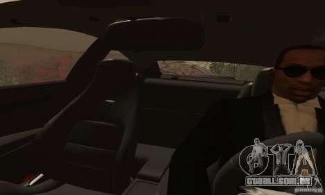 Mercedes-Benz C63 AMG para GTA San Andreas vista interior