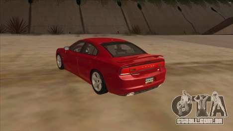 Dodge Charger RT 2011 V1.0 para GTA San Andreas traseira esquerda vista
