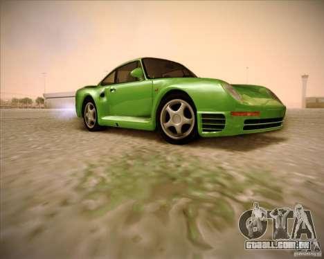 Porsche 959 1987 para GTA San Andreas vista direita