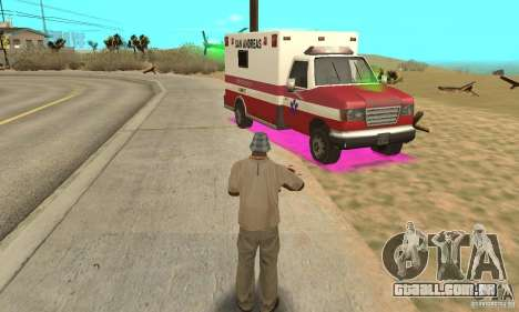 SpecDefekty para GTA San Andreas por diante tela