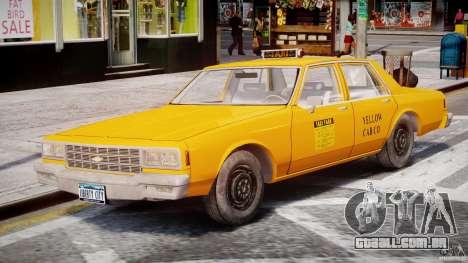 Chevrolet Impala Taxi 1983 [Final] para GTA 4 vista lateral