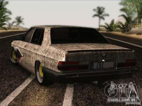 BMW E28 525E RatStyle para GTA San Andreas vista direita