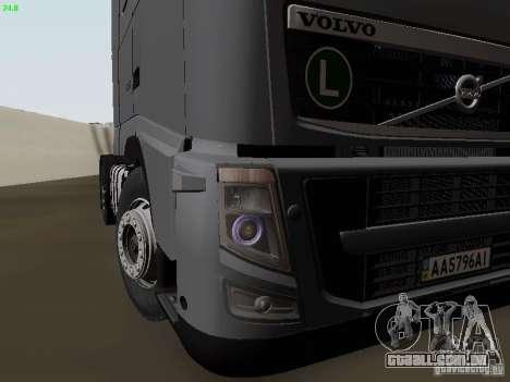 Volvo FH13 Globetrotter para GTA San Andreas vista inferior