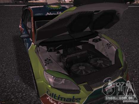 Ford Focus RS WRC 2010 para GTA San Andreas vista inferior