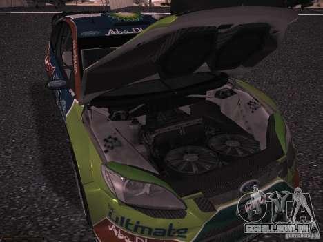 Ford Focus RS WRC 2010 para GTA San Andreas vista inferior