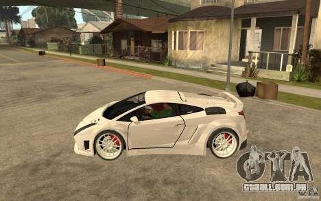 Lamborghini Gallardo MW para GTA San Andreas esquerda vista