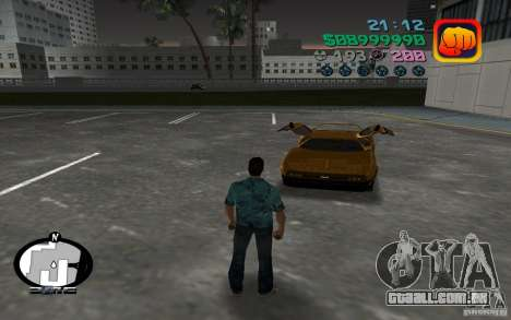 Delorean DMC-13 para GTA Vice City deixou vista