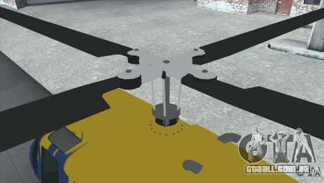 GTA IV News Maverick para GTA San Andreas esquerda vista