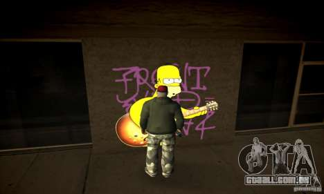 Simpson Graffiti Pack v2 para GTA San Andreas terceira tela