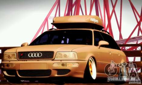 Audi RS2 Avant Thug para GTA San Andreas vista interior