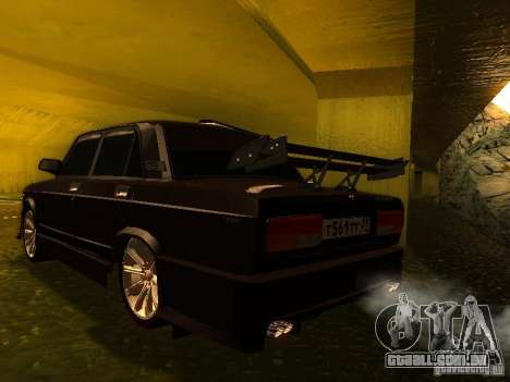 VAZ 2107 X-estilo para GTA San Andreas esquerda vista