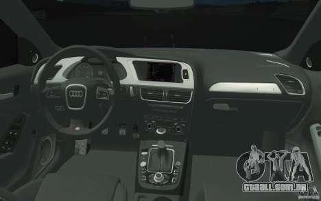 Audi S4 2009 para GTA San Andreas vista superior