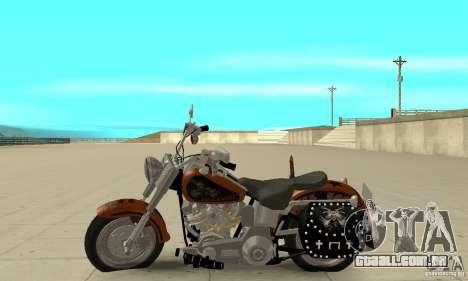 Harley Davidson FLSTF (Fat Boy) v2.0 Skin 2 para GTA San Andreas esquerda vista