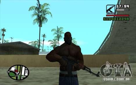 Kalashnikov modernizado para GTA San Andreas quinto tela