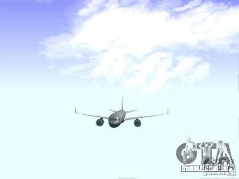 Boeing 757-200 United Airlines para GTA San Andreas vista interior