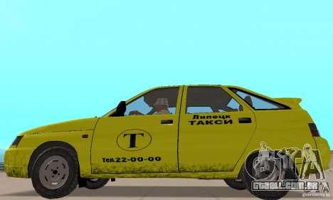 VAZ 21124 TÁXI para GTA San Andreas traseira esquerda vista