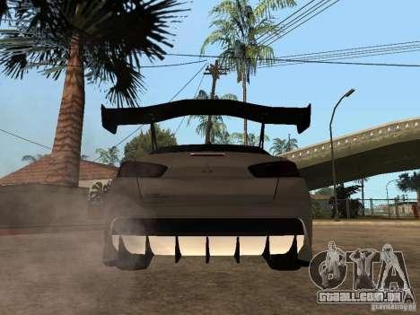 Mitsubishi Lancer Evolution X Drift Spec para GTA San Andreas traseira esquerda vista