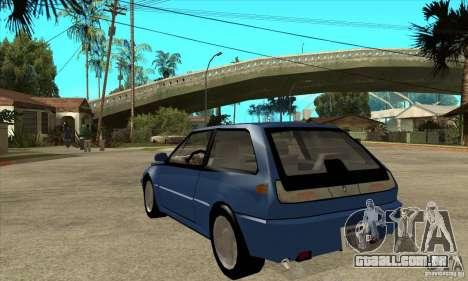 Volvo 480 Turbo para GTA San Andreas traseira esquerda vista