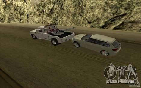 Chevrolet guincho para GTA San Andreas vista interior